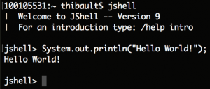 JShell in Terminal